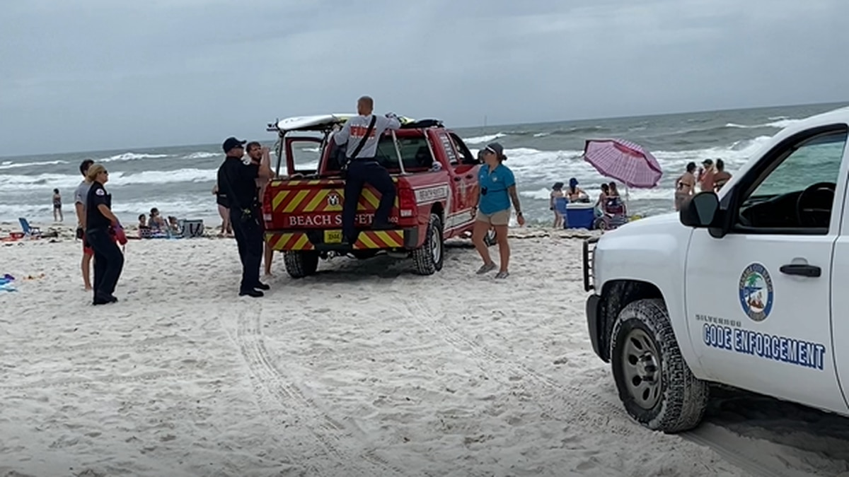 There were seven water rescues this weekend.