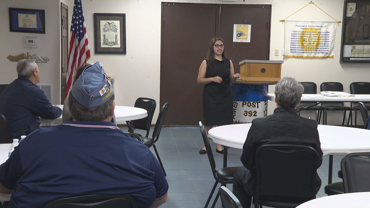 Local high schoolers gave a 10 minute speech about the U.S. constitution and then prepared and presented a five-minute speech about a random amendment from the constitution chosen by the legion. (WJHG/WECP)