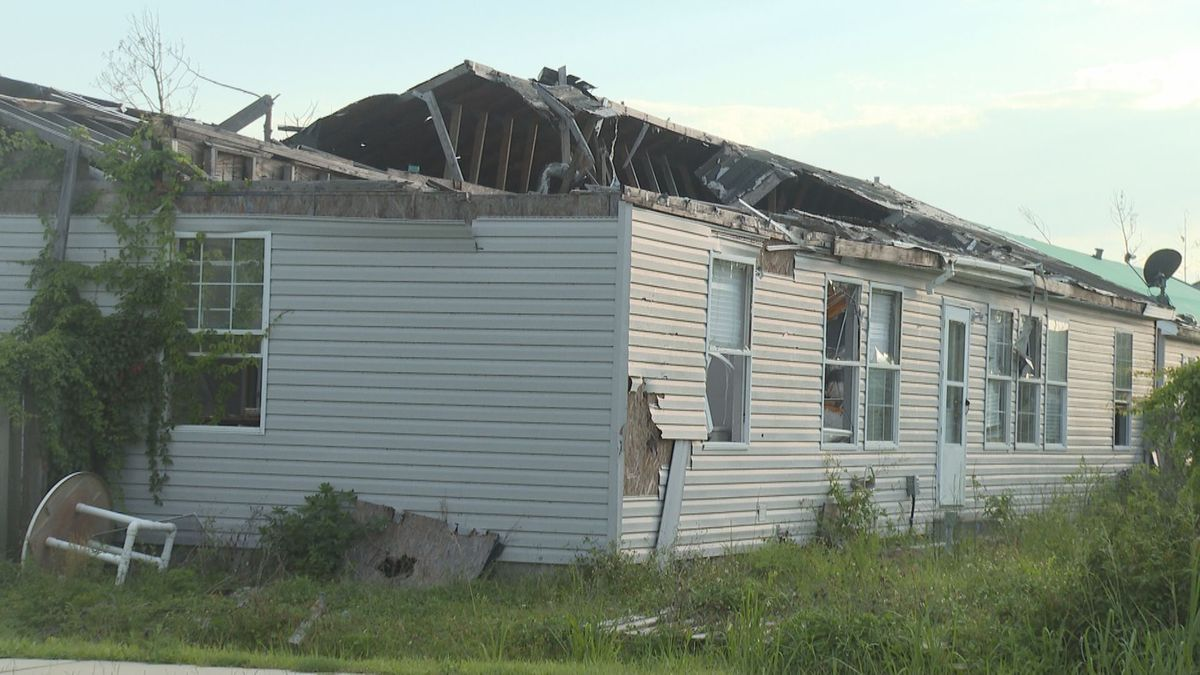 Home in Callaway damaged by Hurricane Michael. Survey shows most Floridians won't support local hurricane relief efforts. (WJHG/WECP)