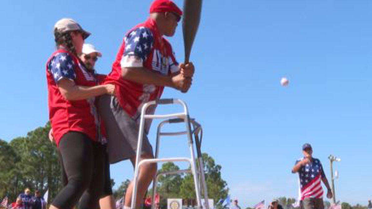 Military veterans took to the home plate at Frank Brown Park Wednesday for the 16th Miracle League Veterans Game. (WJHG/WECP)