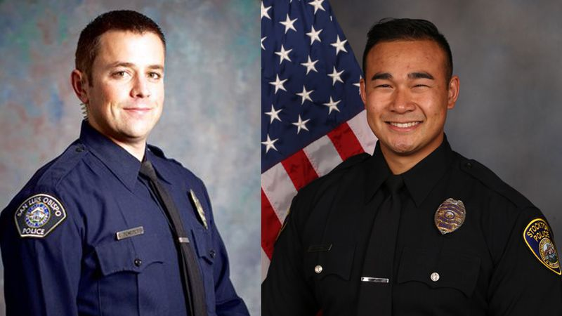 "San Luis Obispo Police Detective Lucas ""Luca"" Benedetti and Stockton Police Officer Jimmy Inn..."