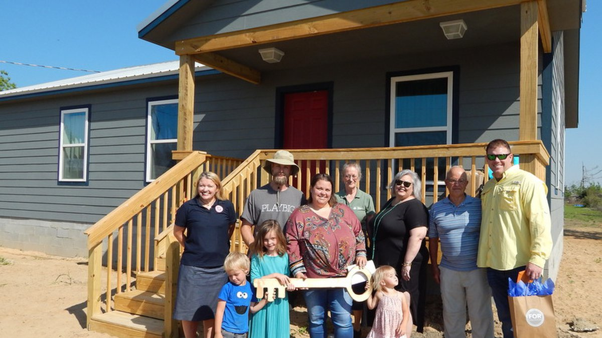 The North Florida Inland Long-Term Recovery Group(LTRG) helped the Adkins family get a new...