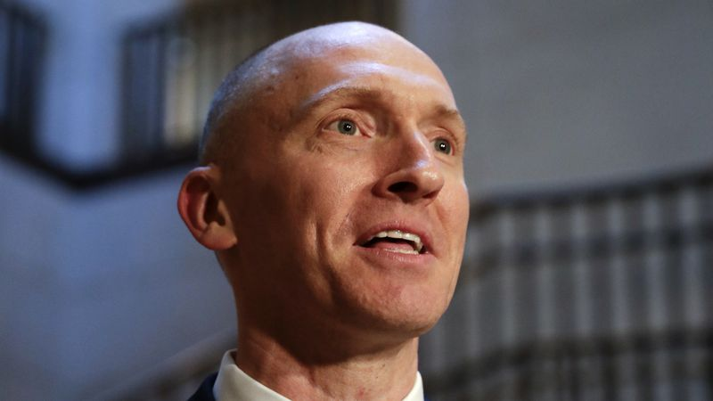 FILE - In this Nov. 2, 2017, photo, Carter Page, a foreign policy adviser to Donald Trump's...