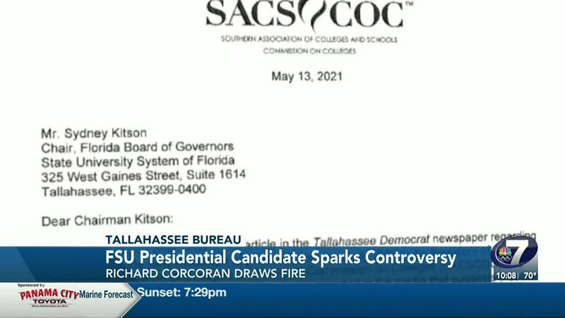 There is controversy surrounding one of FSU's presidential candidates.
