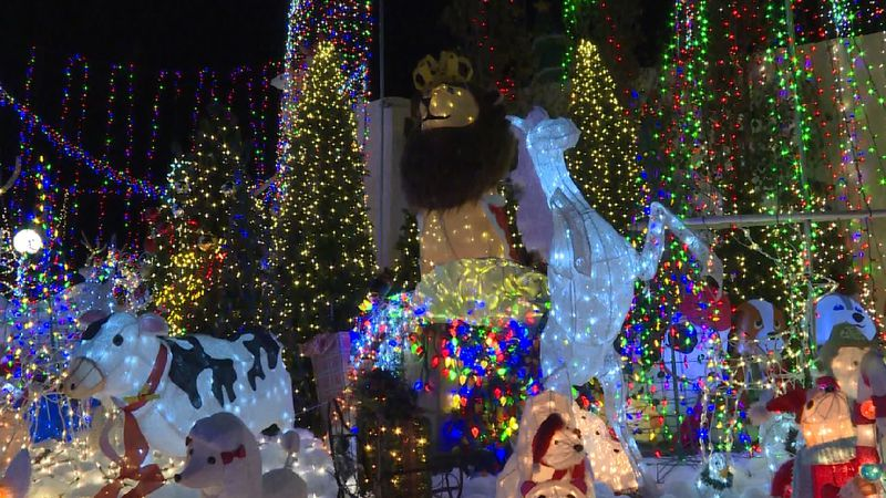 Part of Scott Fester's Christmas light display, which features roughly 750,000 lights and 100...