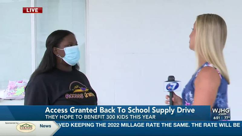 Access Granted Back-To-School supplies drive