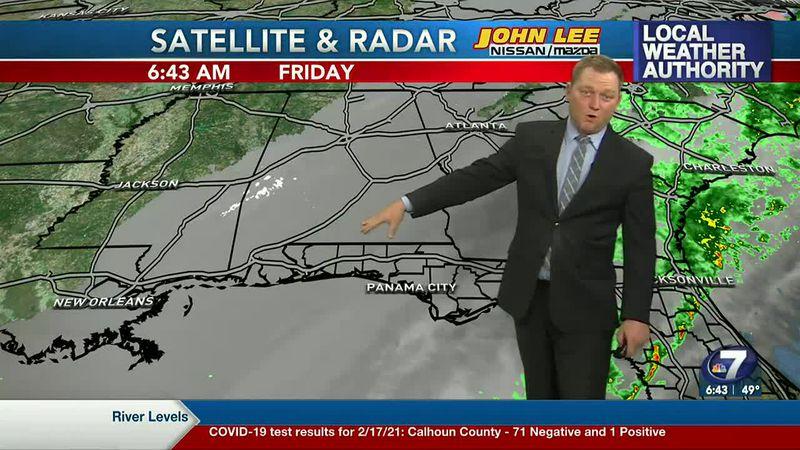Meteorologist Ryan Michaels showing this morning's Satellite and Radar feed.
