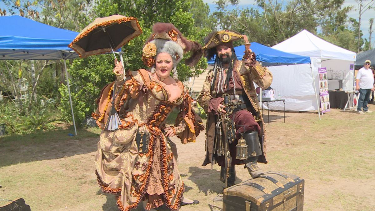 The NWFL Renaissance and Cultural Faire was hosted by Crystal Cottage this year. (WJHG/WECP)