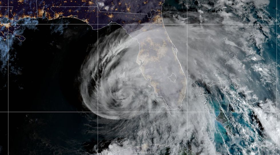 Eta regained hurricane strength on Wednesday.
