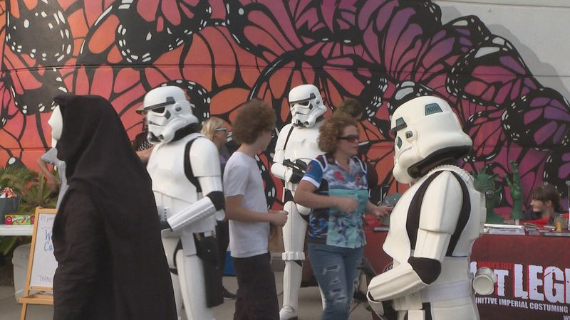 Jedi Knights, Princess Leia, stormtroopers, and even Yoda could be spotted in Downtown Panama...