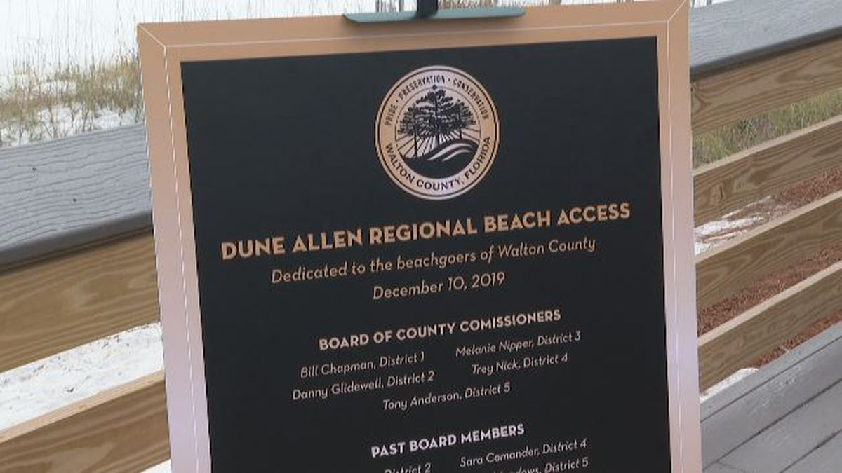 The Dune Allen regional beach access is the first new public beach access in ten years, according to the TDC. (WJHG/WECP)