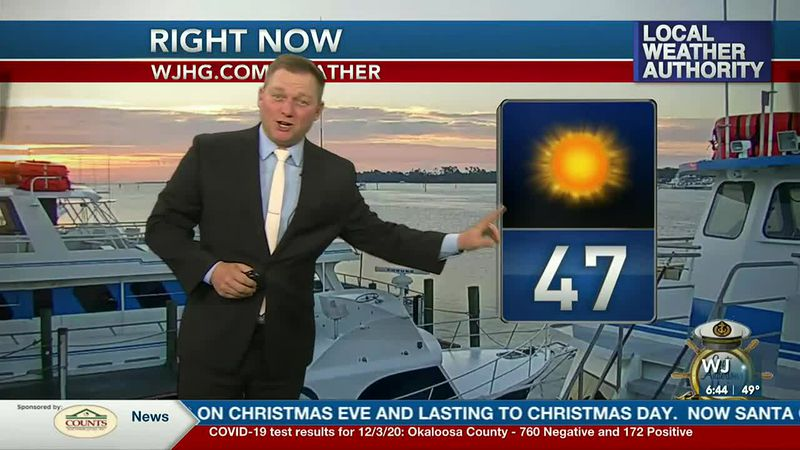 Meteorologist Ryan Michaels showing this morning's current conditions.