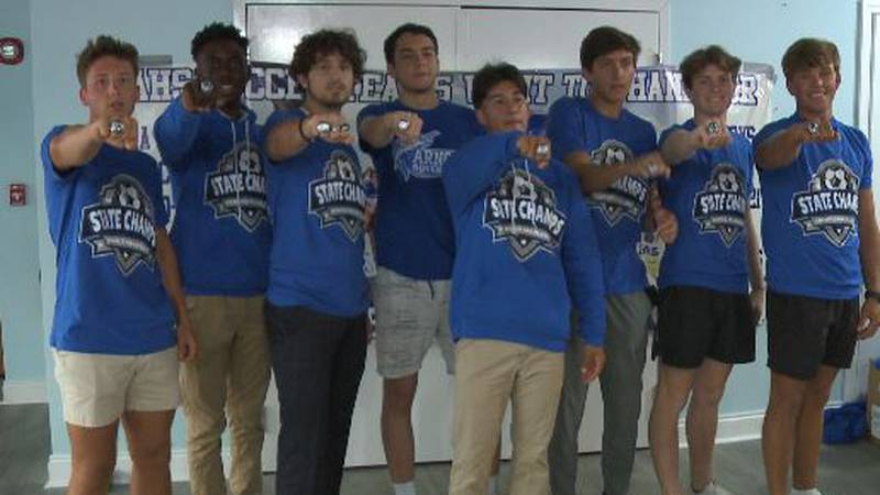 The Marlins brought home the first Bay County soccer state title back in March.