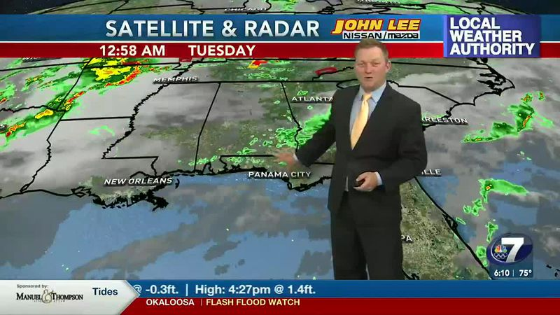 Meteorologist Ryan Michaels says a few scattered showers or storms return this afternoon.