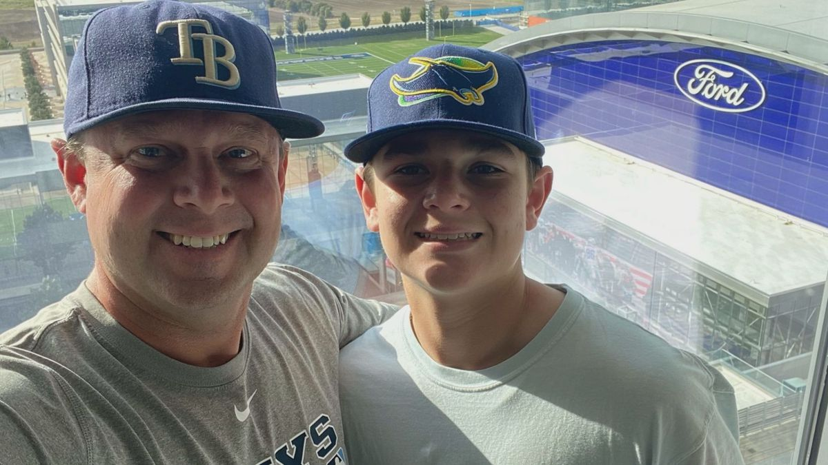 Steve and Cooper Moss in Texas for Game Two of World Series Wednesday