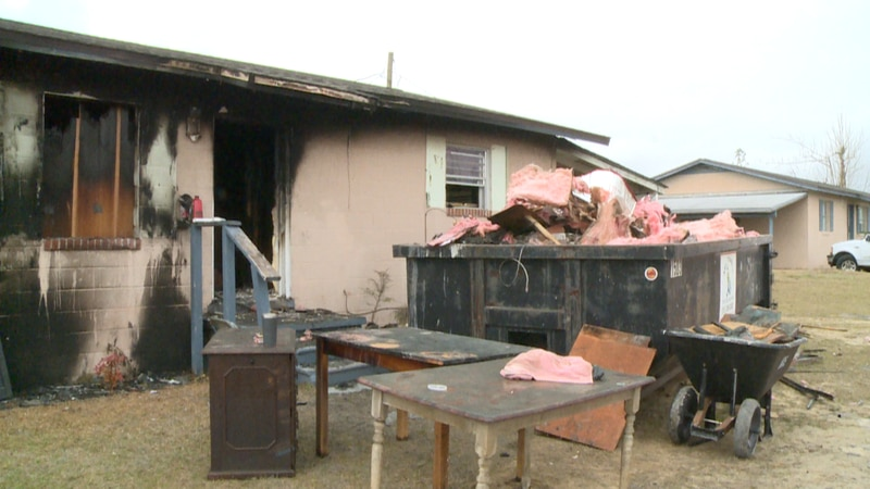 A Callaway family is safe after a fire tore through their home Wednesday morning.