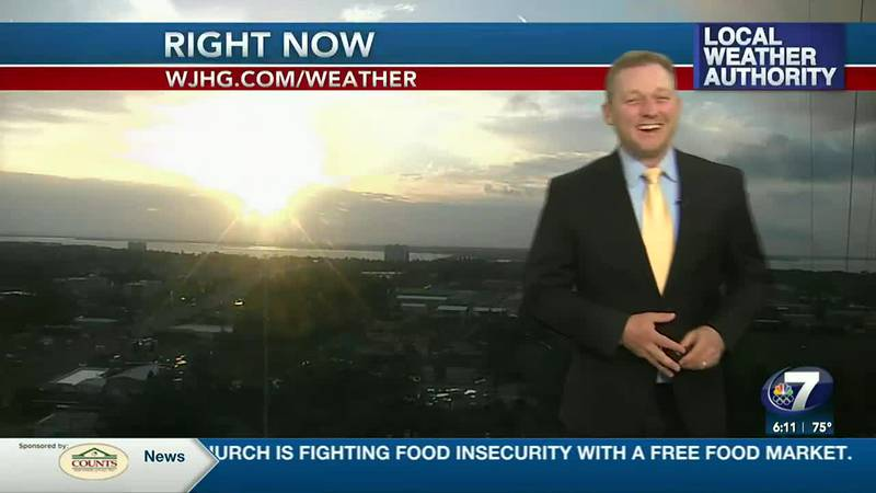 Meteorologist Ryan Michaels showing this morning's sunrise in NWFL.
