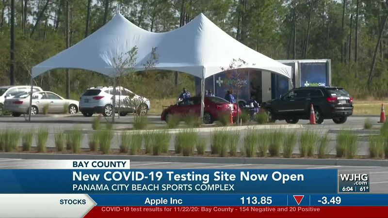 A new COVID-19 site opened Monday at the Panama City Beach Sports Complex.