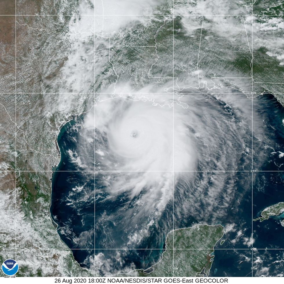 Hurricane Laura, fed by the warm waters of the Gulf of Mexico, has strengthened to a Category 4 storm.