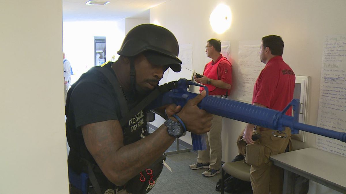 Panama City Police and Fire participated in active shooter training. (WJHG/WECP)