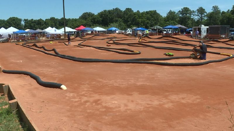 B & T RC Raceway's 90' x 120' track is said to be the only radio-controlled racecar track...