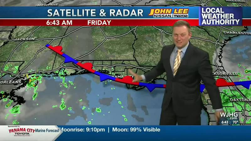 Meteorologist Ryan Michaels says a weak front will enhance an afternoon rain chance for the...