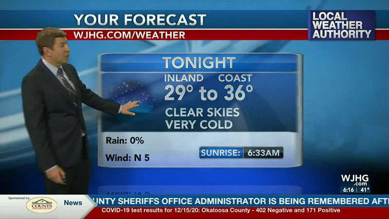 A lot of the panhandle will see freezing temperatures tonight