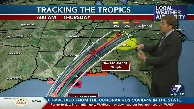 It's drier for now, but impacts from Zeta arrive Wednesday night