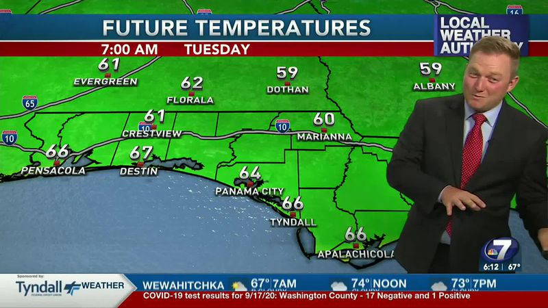 Meteorologist Ryan Michaels says the fall like feel sticks around today and tomorrow.