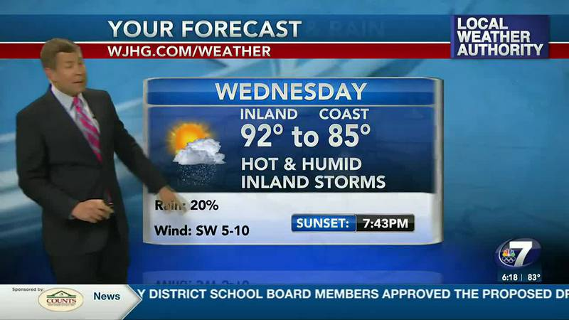 The heat continues with only minimal rain chances.
