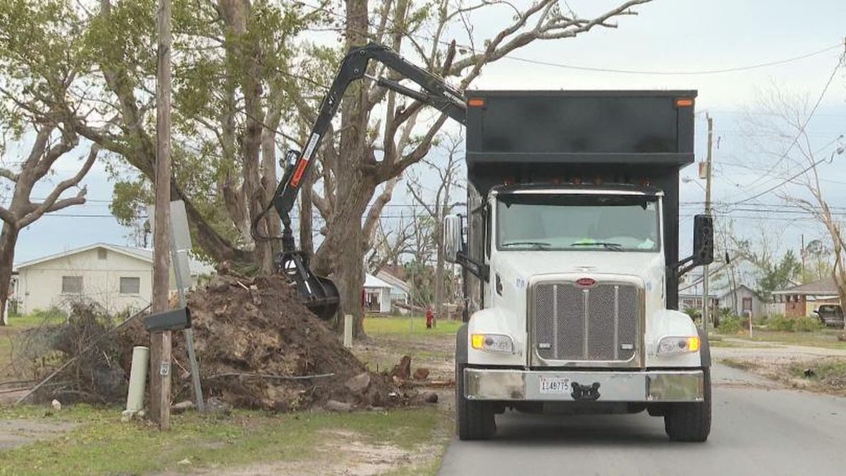 Hurricane Michael debris being collected in Bay County. (WJHG/WECP)