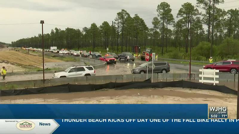 State contractors ECP airport officials continue to work together on the 388 roundabout at the...