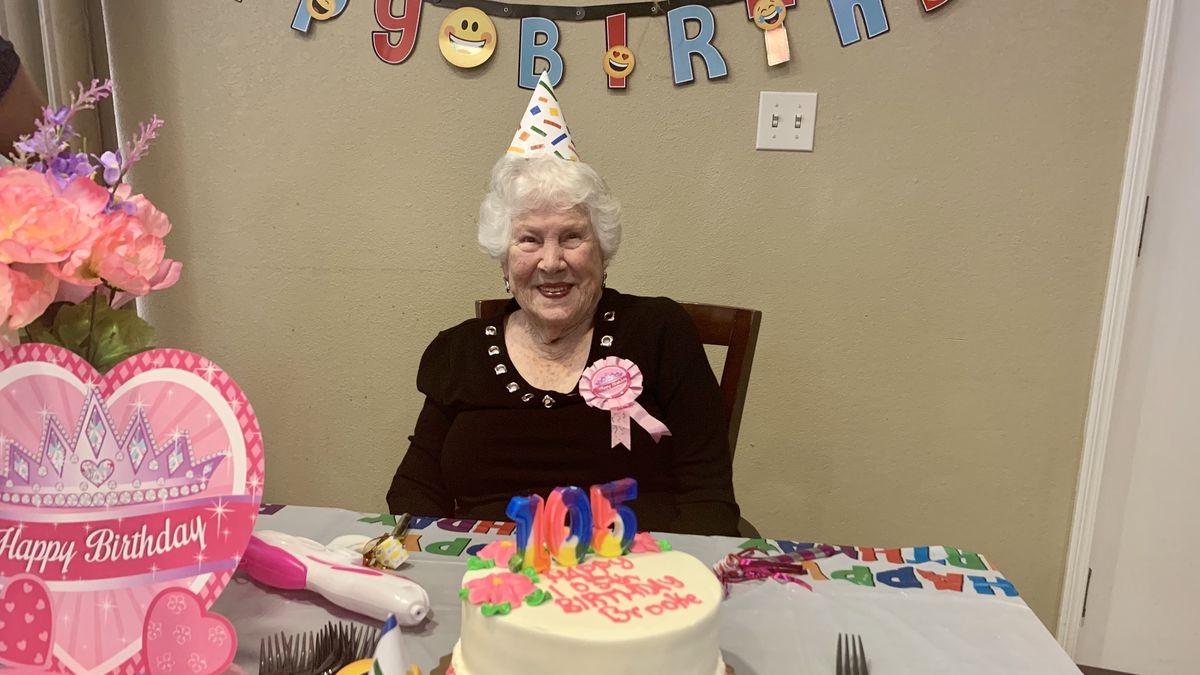 Ms. Brooke Nuoffer celebrated her 105th birthday Saturday. (WJHG/WECP)