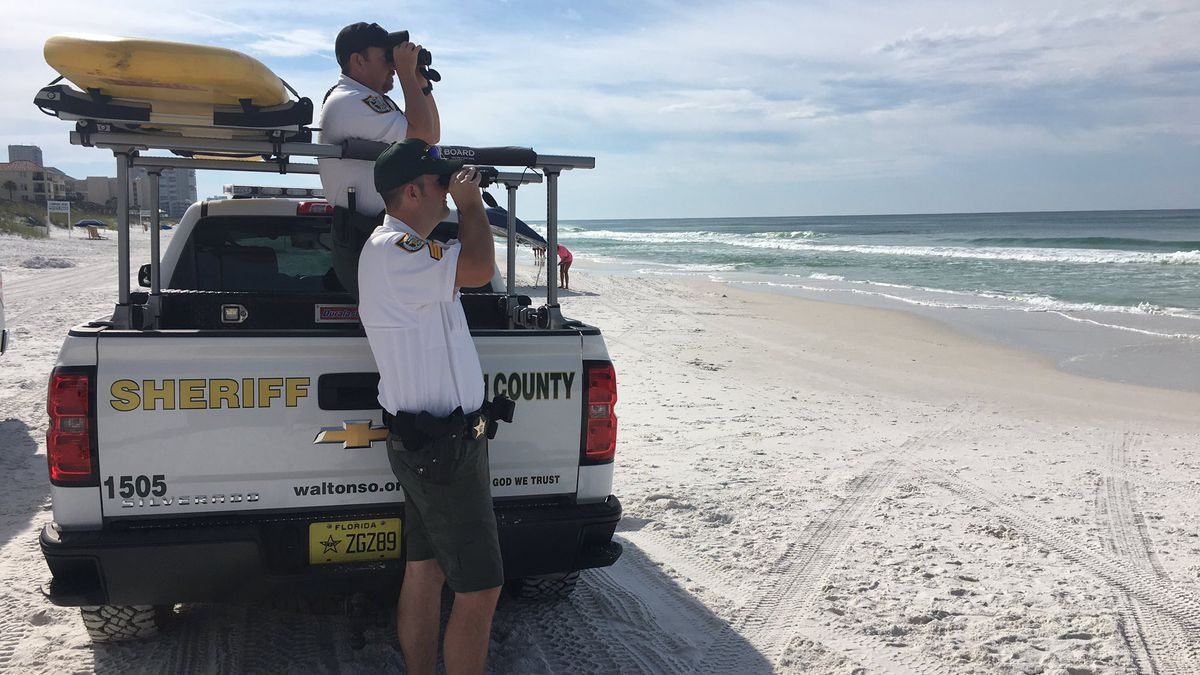 Searchers continue to look for a swimmer that went missing in the waters off South Walton...