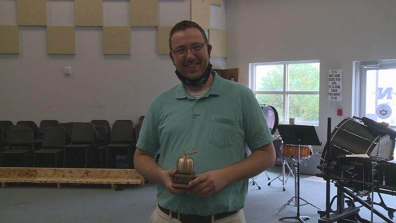 This Week's Golden Apple Award Winner is Mr. Justin Bell.