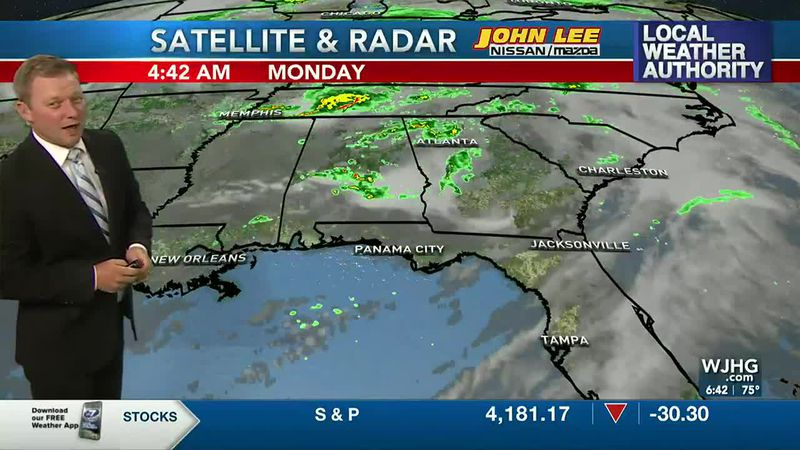 Meteorologist Ryan Michaels showing this morning's Satellite and Radar imagery.