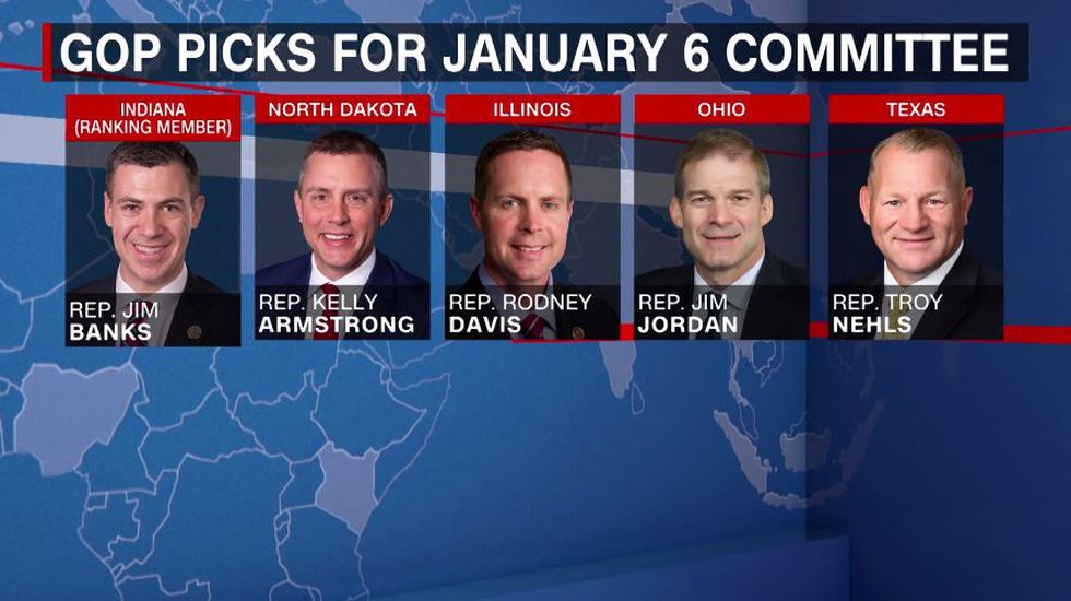 Five House Republicans have been selected for the special committee that will investigate the...