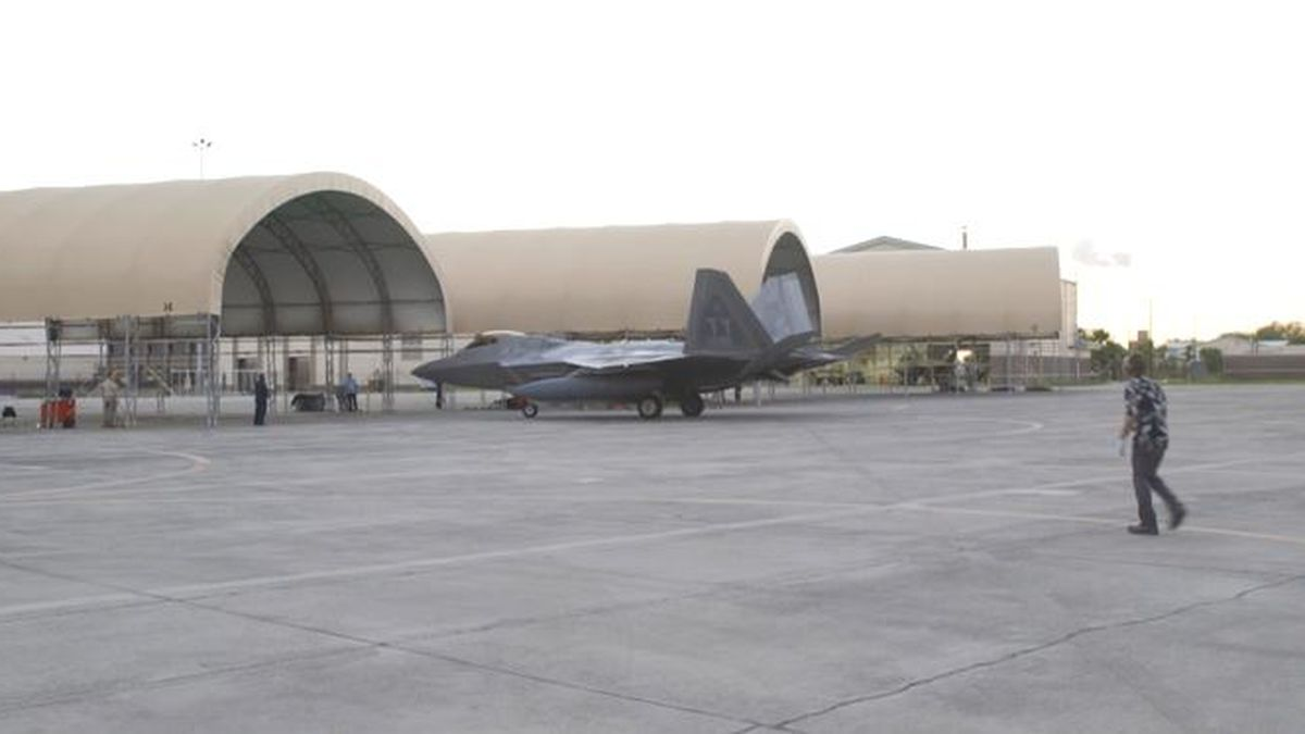 Representative Dunn is urging the Air Force Secretary to temporarily relocate the F-22 training unit to Tyndall Air Force Base. (WJHG/WECP)
