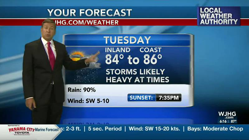 Storms are likely tonight into Tuesday.