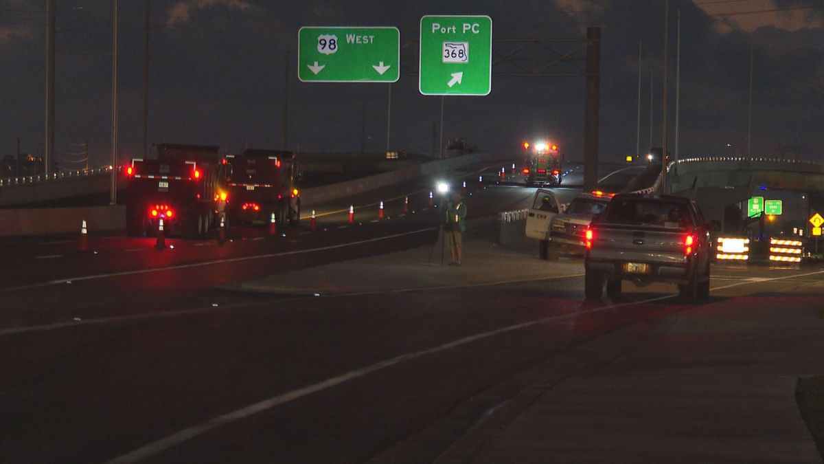 The Florida Department of Transportation is opening the westbound portion of the 23rd St....