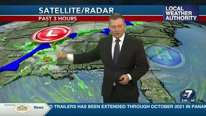 Meteorologist Ryan Michaels says we could see a few showers move in late in the day today.