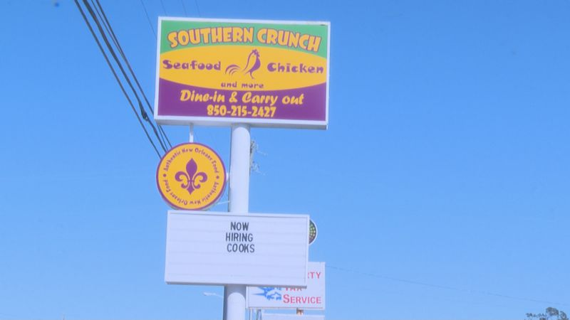 The owner of Southern Crunch Seafood and Chicken in Panama City, Nather Baraka, said there...