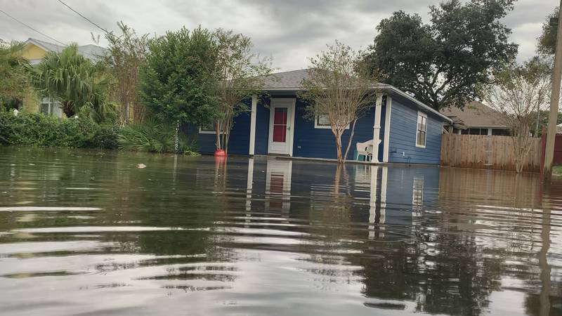 Like most of Bay County saw during the overnight storms, one Panama City Beach neighborhood saw...