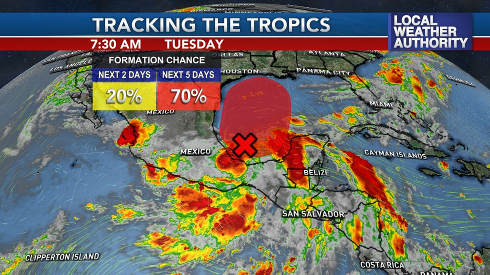 A tropical disturbance looks likely to develop in the Western Gulf over the next few days and...