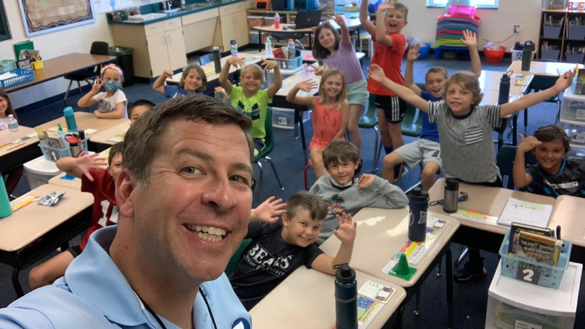Chris Smith spoke to 2nd graders at Butler Elementary