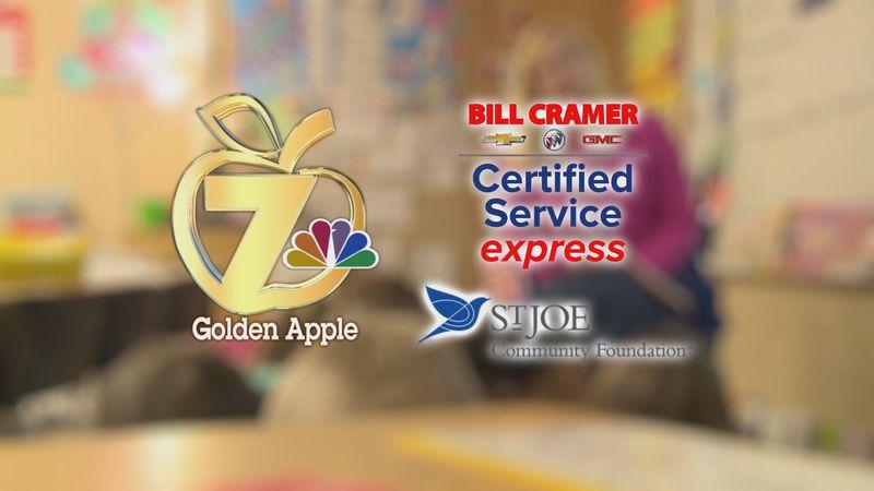 This Week's Golden Apple Award Winner is Mrs. Victoria Gerber