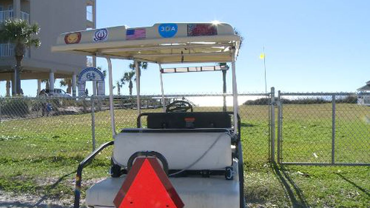 City Officials with Panama City Beach have made new signs to keep low speed vehicles from...