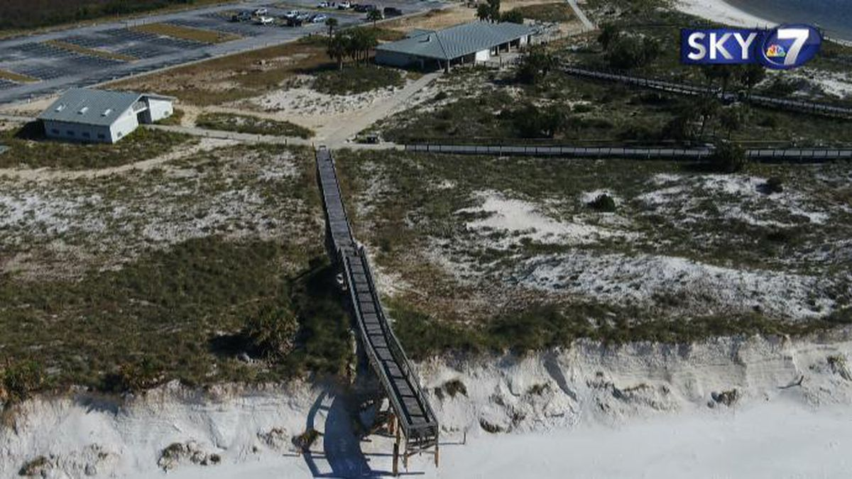 A look from Sky 7 of St. Andrews State Park.
