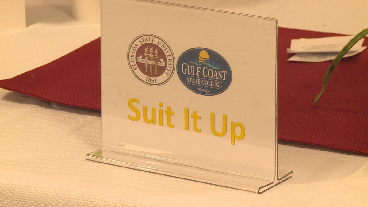 """The JCPenneys in Panama City partnered with Gulf Coast State College and Florida State University - Panama City campus to hold a """"Suit Up"""" event. (WJHG/WECP)"""