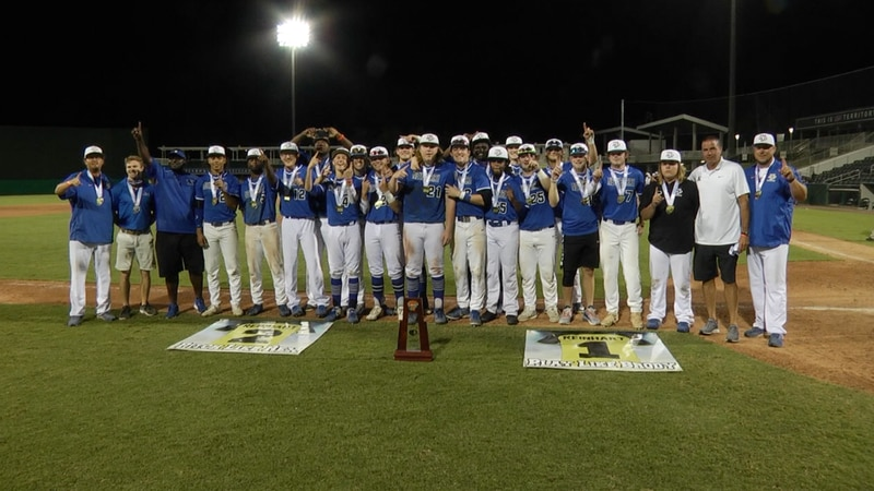 The Newberry Panthers take their team picture after winning the Class 1A State Championship.